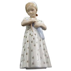 B&G Danish Girl Porcelain Figurine