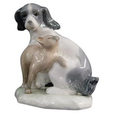 Lladro Nao Dog and Cat