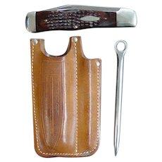 Case XX 1974 Coke Bottle Knife Riggers Set