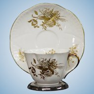 Shelley Flowers of Gold Cup & Saucer Set