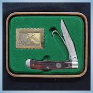 Schrade 1988/89 Duck Stamp Knife with Box