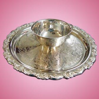 Oneida Silver Plate Du Maurier Chip & Dip