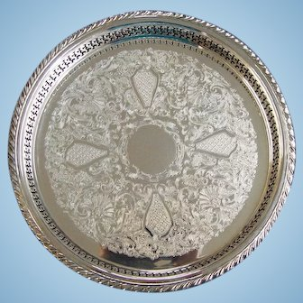 "Oneida Silver Plate Maybrook 13"" Gallery Tray"