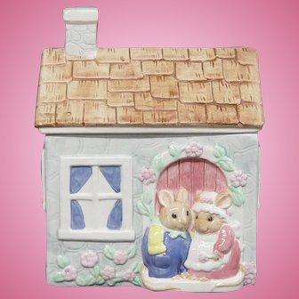 Mr. & Mrs. Bunny Cookie Jar