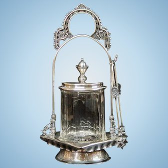William Rogers Silver Plate Pickle Caster