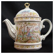 English Sporting Scenes Teapot