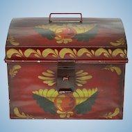 Paint Decorated Metal Storage Box
