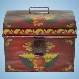 Paint Decorated Metal Storage Box
