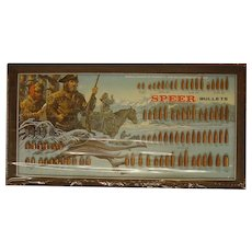 1973 Speer Lewis & Clark Bullet Display Board