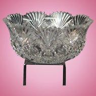 American Brilliant Period Cut Glass Round Bowl