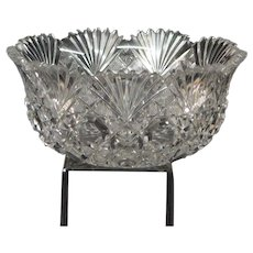 American Brilliant Period Cut Glass Round Bowl
