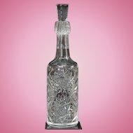American Brilliant Period Cut Glass Whiskey Decanter