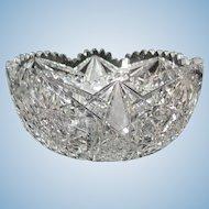 Outstanding American Brilliant Period Cut Glass Round Bowl