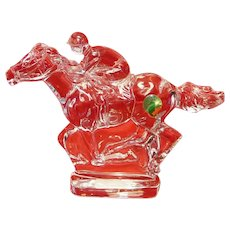 Waterford Horse and Jockey Collectible Crystal Sculpture
