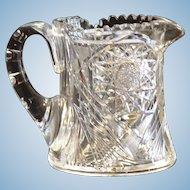 Outstanding American Brilliant Period Cut Glass Cider Pitcher