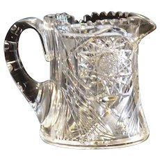 Outstanding American Brilliant Period Cut Glass Cider Pitcher