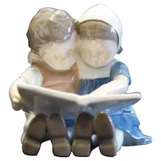 Bing and Grondahl B&G 1567 Porcelain Figurine Children Reading