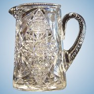 Hawkes American Brilliant Cut Glass Pitcher