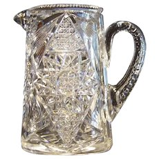 Hawkes American Brilliant Cut Glass Pitcher