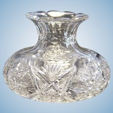 Outstanding American Brilliant Period Cut Glass Center Vase