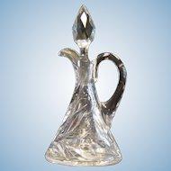 American Brilliant Period Cut Glass Hawkes Vinegar Cruet w/Stopper