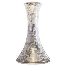 Libbey Signed Engraved Tall Vase