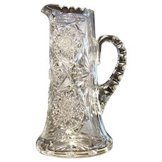 American Brilliant Cut Glass Tall Pitcher
