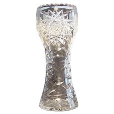 American Brilliant Period Large Cut Glass Vase
