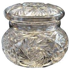 American Brilliant Period Cut Glass Dresser Jar