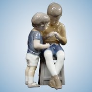 Royal Copenhagen Bing & Grondahl Porcelain Figurine Tom & Willy