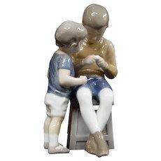 Royal Copenhagen Bing & Grondahl Porcelain Figurine Tom & Willy