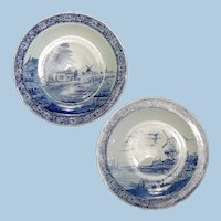 A Pair of Large Delft Chargers