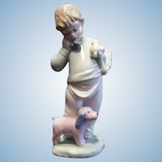 Lladro NAO #1044 Boy on Phone Figurine