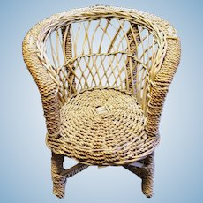 Small Wicker Chair for Doll or Teddy Bear