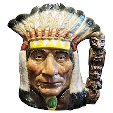 Royal Doulton #D6611 North American Indian Large Character Jug