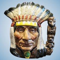 Royal Doulton #D6611 North American Indian Large Character Jug