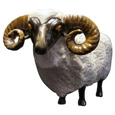 MZ Ireland Art Pottery Ram Sheep