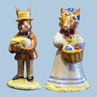 Royal Doulton Mr. & Mrs. Bunnykins At The Easter Parade