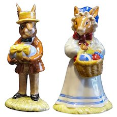Royal Doulton Mr. & Mrs. Bunnykins At The Easter Parade