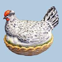 Antique Staffordshire Large Hen on Nest Circa 1900