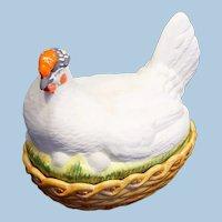 Antique Large Staffordshire Hen on Nest Circa 1900