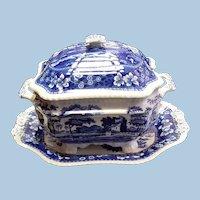Copeland Spode Tower Transferware Soup Tureen with Underplate
