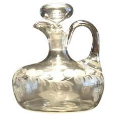 American Brilliant Period Hawkes Ships Decanter