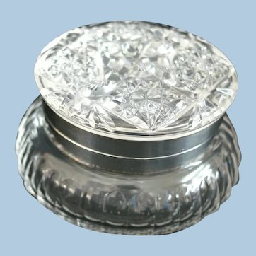American Brilliant Period Cut Glass Jewel Box