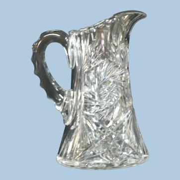 American Brilliant Period Cut Glass Water Pitcher