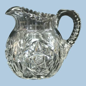 American Brilliant Period Pitcher Signed Libbey
