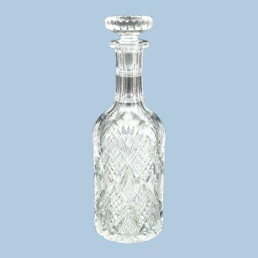 American Brilliant Cut Glass Sauce Bottle