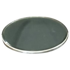 """Vintage Silver Plated Plateau Mirror 14"""""""