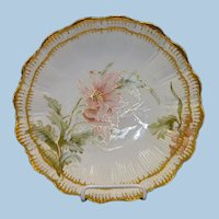 Limoges Hand Painted Floral Bowl w/Gold Trim
