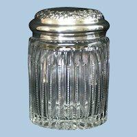 American Brilliant Meriden Tobacco Jar w/Sterling Lid